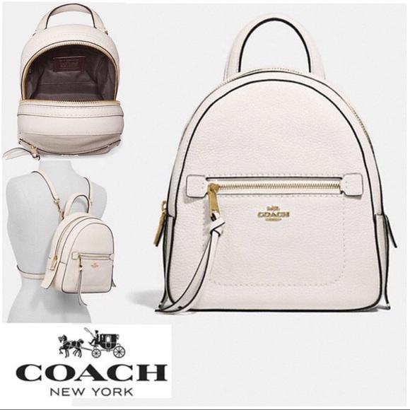 bf3ca8701 Coach Bags | Designer Andi White Leather Backpack Nwt | Poshmark